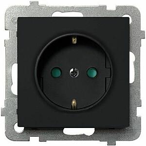Ospel Socket Sonata vienkrāsains ar slēģiem melns metālisks (GP-1RSP / m / 33)