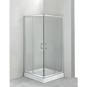 Deante Funkia dušas kabīne 80 cm kvadrātveida stikla matēta stikla hroma profils (KYC 642K)
