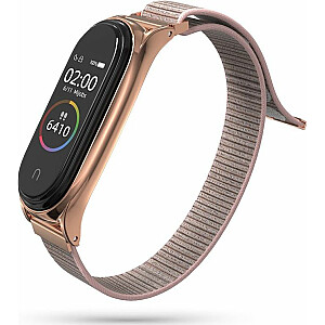 Tech-Protect Mi Smart Band 5 neilona siksna rozā krāsā