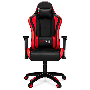 PRO-GAMER Falcon Melns un sarkans krēsls