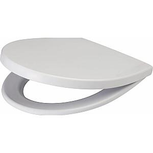 Cersanit Delfi tualetes sēdeklis mīksti aizverams balts (K98-0073)