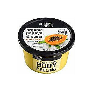 Organic Shop Juicy Papaya ķermeņa skrubis 250 ml