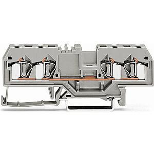 WAGO 4 vadu kopņu savienotājs 4mm2 pelēks (281-652)