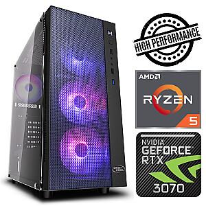 INTOP Ryzen 5 3600 8GB 240SSD M.2 NVME RTX3070 8GB no-OS