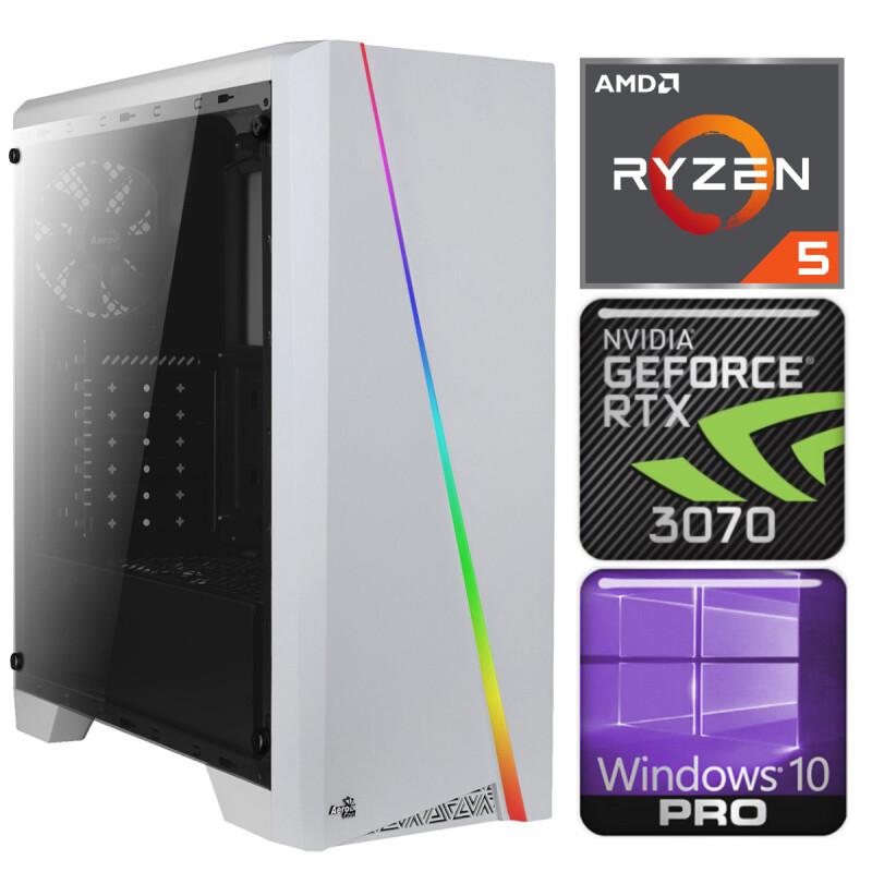 INTOP Ryzen 5 5600X 32GB 240SSD M.2 NVME RTX3070 8GB WIN10Pro