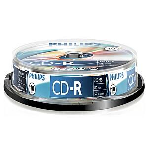 Philips CD-R 80 700mb cake box 10