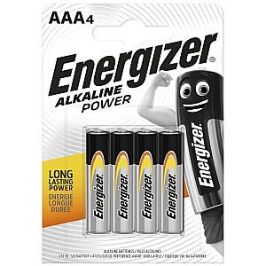 LR03-4BB Alkaline Power AAA (LR03) BLISTERA IEPAKOJUMĀ 4GB.