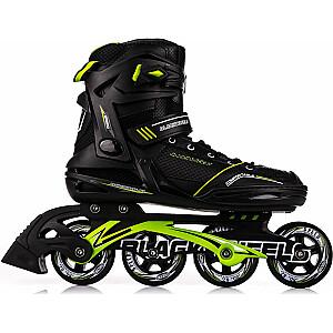 Skrituļslidas Blackwheels Slalom, Black/Green 44.izmērs
