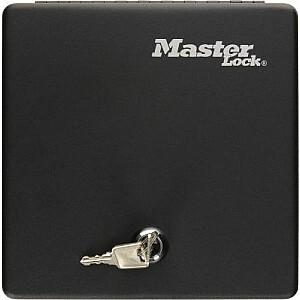 MASTER LOCK Metāla kasete ar atslēgu melna (2111466)
