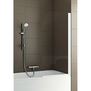 Vannas ekrāns Aquaform Modern 1-gab. Caurspīdīgs stikls, balts profils (170-06951)
