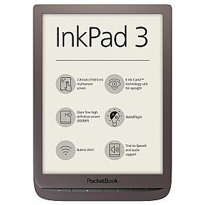 PocketBook InkPad 3 lasītājs tumši brūns (PB740-X-WW) (7640152094767)