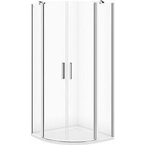 Cersanit S162-010 Moduo pusapaļa dušas kabīne 90x90x195 caurspīdīgs stikls (S162-010)