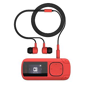 MP3 Clip Coral (8 GB, Clip, FM Radio and microSD)