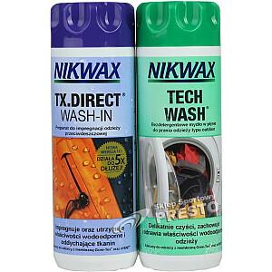 Nikwax āra apģērbu un aprīkojuma kopšanas komplekts Tech Wash / TX. Direct 2x300ml (NI-32)