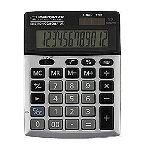 Esperanza ECL102 Kalkulātors, 12 zīmju ekrāns