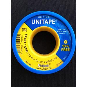 Teflona lente Unipak ūdens instalācijām 12mm x 13.2m (13118)