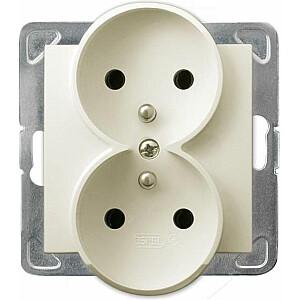 Ospel Double Impresja kontaktligzda ar iezemētu ecru (GP-2YRZ / m / 27)