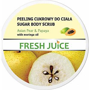 Elfa Pharm Sugar ķermeņa skrubis Fresh Juice Asian Pear & Papaya 225ml