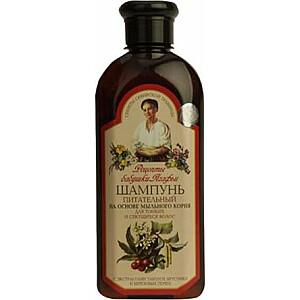 Babushka Agafia šampūns, kas baro smalkus un šķeltus matus 350 ml