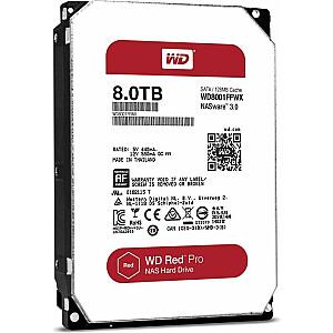 """Western Digital Red 8 TB 3,5 """"SATA III (6 Gb / s) servera disks (WD8003FFBX)"""