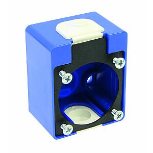 PCE virspusē uzstādīta kārba P-NOVA 1040-0 un 1050-0 kontaktligzdai, zila, IP54 - 106-0H