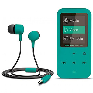 MP4 Touch Mint (8 GB, touch buttons, FM radio, microSD)