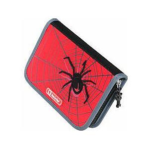 Soli pa solim 3D Black Widow zīmuļu korpuss ar sarkaniem piederumiem