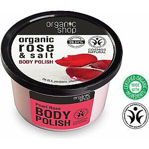 Organic Shop Pearl Rose ķermeņa skrubis 250 ml