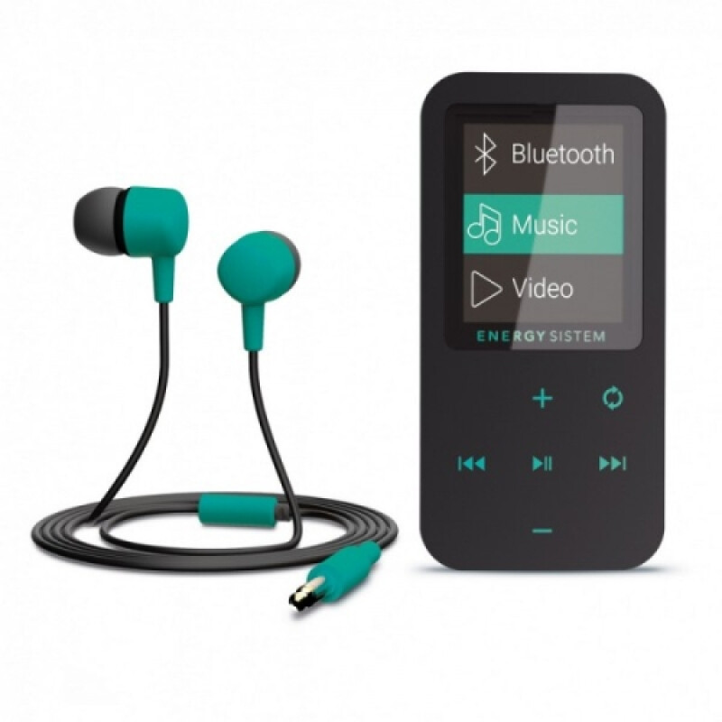 MP4 Touch Bluetooth Mint (8 GB, in-ear earphones, radio FM, microSD)