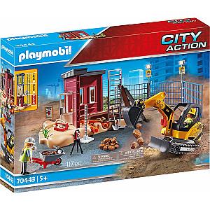 Playmobil mazais ekskavators ar konstrukcijas elementu