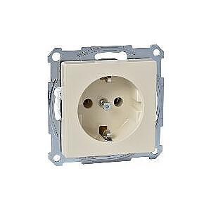 Schneider Electric vienas kontaktligzdas Merten System M Schuko 16A IP20 krēms (MTN2401-0344)
