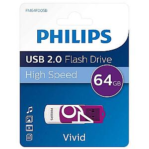 USB 2.0 Flash Drive Vivid Edition (violeta) 64GB