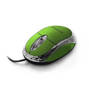 XM102G Green 1000dpi Optiskā datorpele