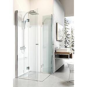 Deante Square dušas kabīne Kerria 80cm caurspīdīgs stikls, hroma profils (KTK 042P)
