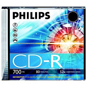 CD-R 80 700mb Jewel case balti priekš apdrukas