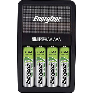 Maxi lādētājs AA/AAA ar 4 AA 2000mAh akumulatoriem