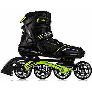Skrituļslidas Blackwheels Slalom Black/Green, 42. izmērs