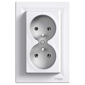 Schneider Electric dubultā kontaktligzda ar baltu krāsu - EPH9800221
