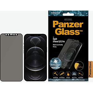 PanzerGlass rūdīts stikls priekš iPhone 12/12 Pro Privacy Black