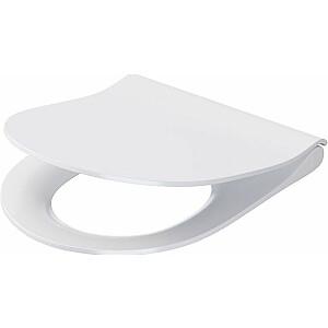 Cersanit City Oval Slim tualetes sēdeklis mīksti aizverams balts (K98-0146)
