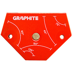 Grafīta metināšanas magnētiskais kvadrāts 64x95x14mm 11.4kg - 56H904