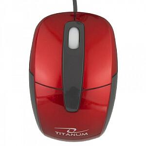 TM108R RED 1000DPI OPTISKĀ DATORPELE