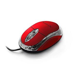 XM102R Red 1000dpi Optiskā datorpele