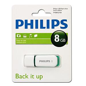 USB 2.0 Flash Drive Snow Edition (zaļa) 8GB
