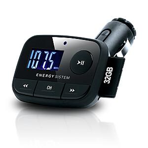 Sistem F2 auto FM modulātors LED USB+SD, melns. Garantija 3 gadi!