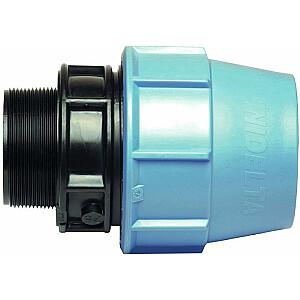 "Unidelta PE adaptera stiprinājums M 20mm x 1/2 ""(601520)"