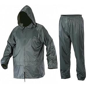 Lahti Pro lietus komplekta jaka + bikses zaļa XL (L4140204)