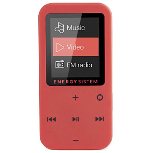 MP4 Touch Coral (8 GB, touch buttons, FM radio, microSD