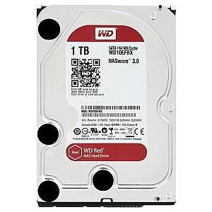 """Western Digital Red 1 TB 3,5 """"SATA III (6 Gb / s) servera disks (WD10EFRX)"""