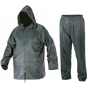 Lahti Pro lietus komplekta jaka + bikses zaļas XXXL (L4140206)